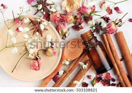 essential oil of rose  cinnamon ...