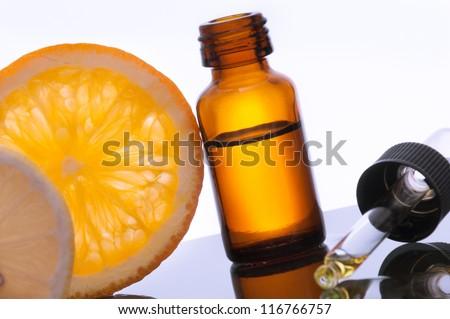 Essential oil with lemon and orange