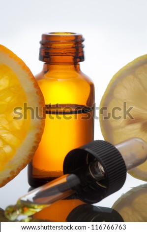 Essential oil with lemon and orange