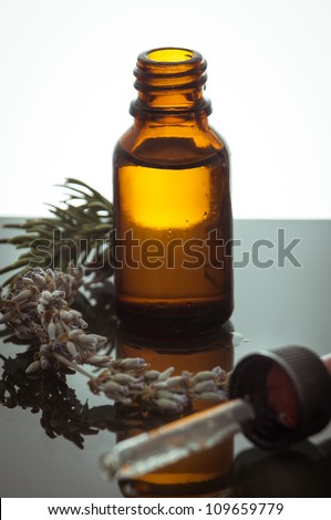 essential oil with rosemary and lavender