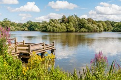 Essex, England, UK - August 11, 2019: Connaught Water, Essex, England, UK