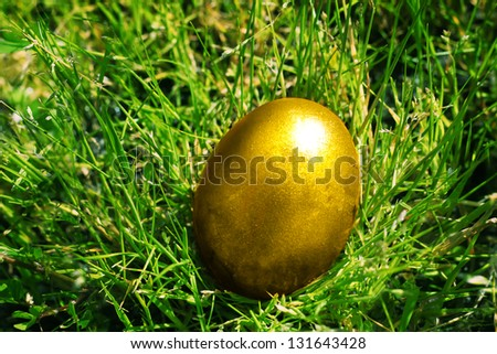 Ester photo with golden eggs