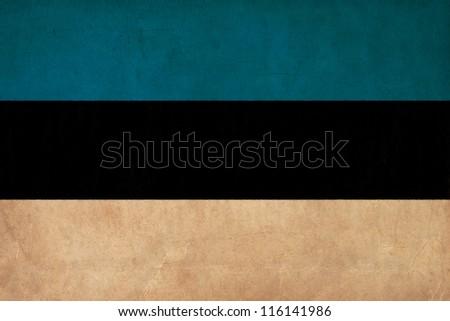 Estonia flag drawing ,grunge and retro flag series