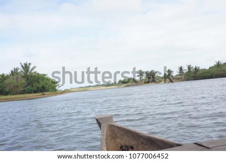 Estuary of river Onice near Ambohitralanana, north east Madagascar #1077006452