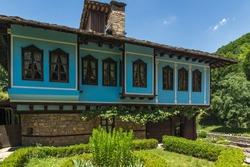 ETAR, GABROVO, BULGARIA- JULY 6, 2018: Old house in Architectural Ethnographic Complex Etar (Etara) near town of Gabrovo, Bulgaria
