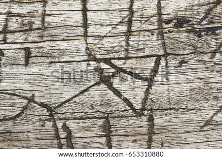 Etchings in wood #653310880