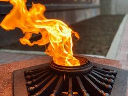 Eternal burning fire memory gas memorial forever