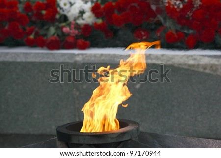 Eternal flame - stock photo
