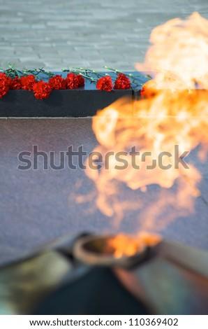 Eternal Flame at the war memorial, Murmansk