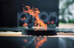Eternal flame in memory of those who died in the war
