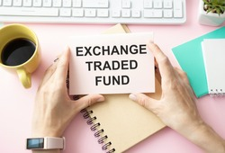 ETF - Exchange Traded Funds word business concept