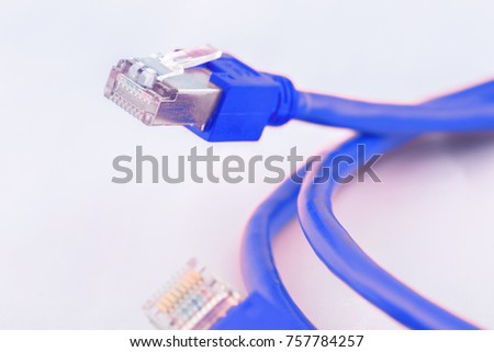 Ethernet Cable, internet connection cable, lan cable, network cable  #757784257