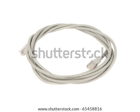 Ethernet cable isolated on white background