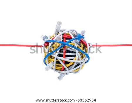 ethernet cables isolated on white background
