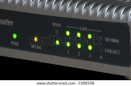 Ethernet Wifi Router on Ethernet 10 100 Mbps Wifi Router Control Panel Stock Photo 5388508