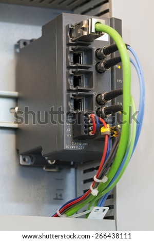 Ethernet switch in industrial automation system.