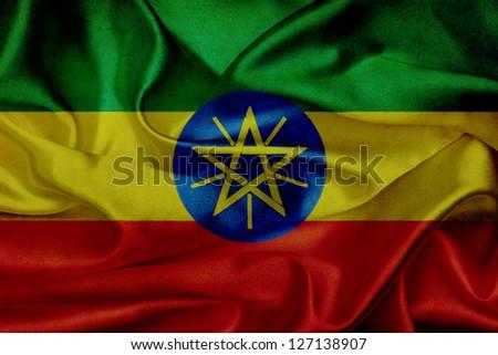 Ethiopia grunge waving flag