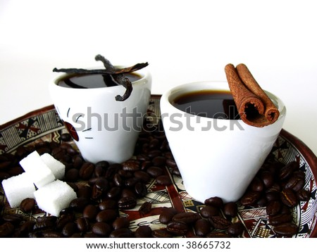 Ethiopian arabian coffee with different aroma