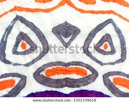 Ethnic Background. Free Style Aquarelle. Watercolor Texture. Tie Dye Batik. Dirty Art Background. Dirty Art Background. African Dirty Art Style.