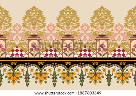 ethnic border design with ethnic colors