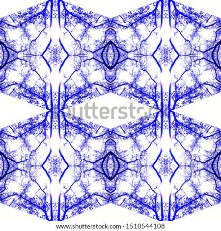 Ethnic Cotton Template. Mexican Artisan Design. Bohemian Tiling. Seamless Light Modern Wall Decoration. Winter Kaleidoscopic. Bleach Fabric Print. Mexican Artisan Design.