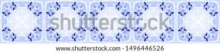 Ethnic Cotton Template. Seamless Indigo Mexican Artisan Design. Rhombus Ornament. Mexican Artisan Design. Aztec Stripe Print. Ogee Delicate Print. Tie Dye Pattern.