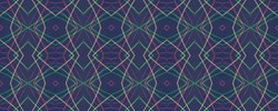 Ethnic Ikat Pattern. Colorful Fashion Endless Fabric. Seamless Ikat Motifs Concept. Colorful Tribal Texture. Black Bohemian Ornament. Traditional Mexican Wallpaper. Fashion Geometric Textile.