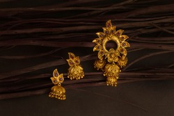 ethnic Indian jewellery, in studio background