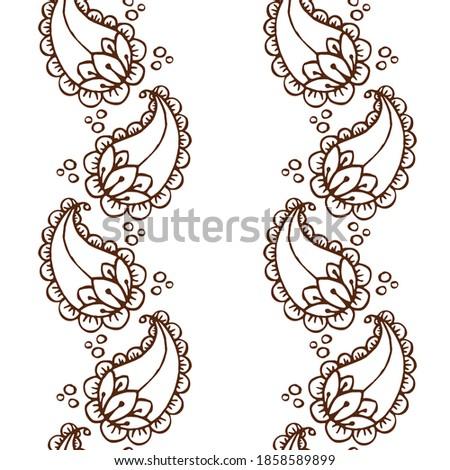 Ethnic mehendi mendi paisley seamless background pattern Stock photo ©