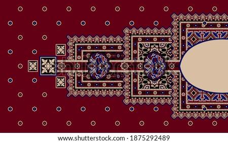 Ethnic Morocco. Vivid Mosaic. Multicolor Ethnic Aztec. Vivid Geometric Pattern. Vivid Floral Shawl Design. Floral Pattern. Traditional Textile Design - Illustration