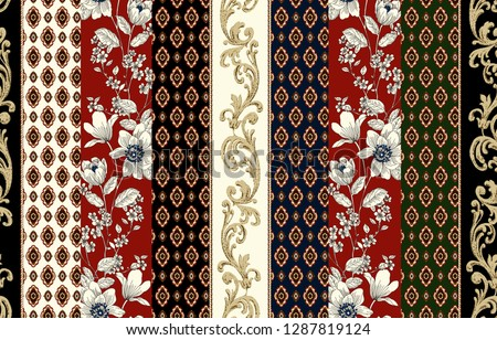 ethnic pattern flowers baroque
