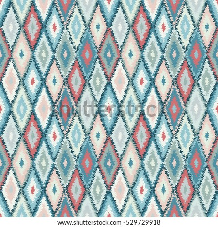 ethnic rhombus tribal seamless pattern - illustration