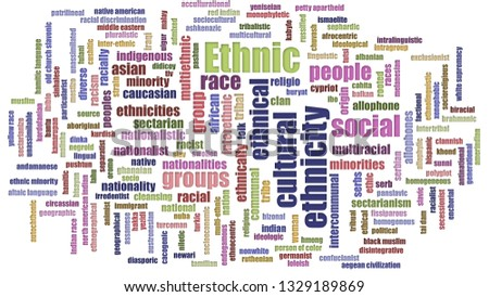 Ethnic Tag Cloud Mixed Isolated