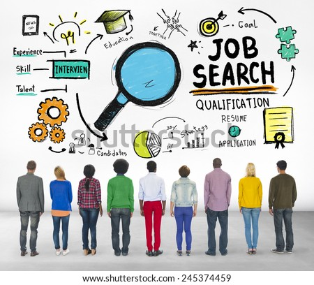 Ethnicity Business People Searching Job Search Recruitment Concept