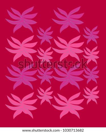 Shutterstock Ethno design leaves exotico on pink II