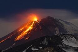 etna eruption sicily lava nature