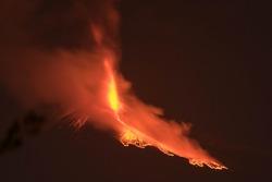 Etna highest active volcano in Europe