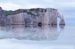 Etretat cliffs, Normandie, Manche, France