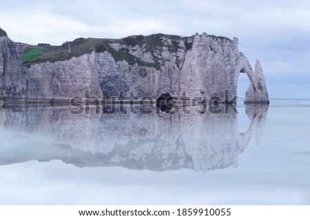 Etretat cliffs, Normandie, Manche, France Photo stock ©