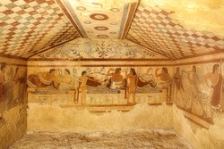 Etruscan tomb of the leopard