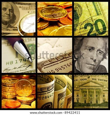 EU and USA money. Finance concept.