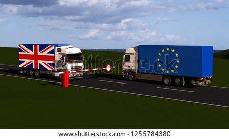 EU internal market according to Brexit / 3D render