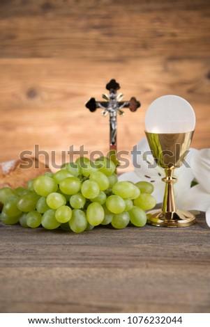 Eucharist, sacrament of communion background #1076232044