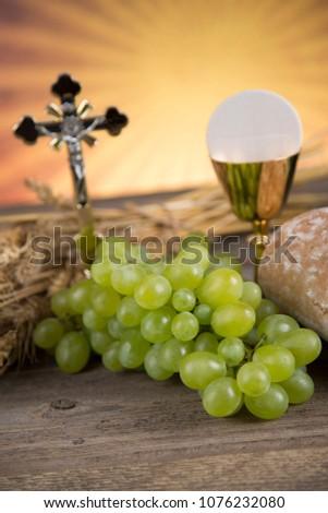 Eucharist, sacrament of communion background #1076232080