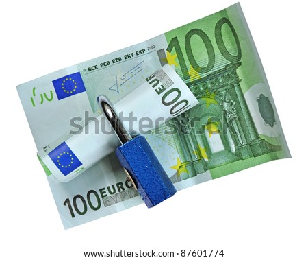 EUR money protection, finance safety concept