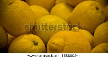 Eureka lemons citrus fruit