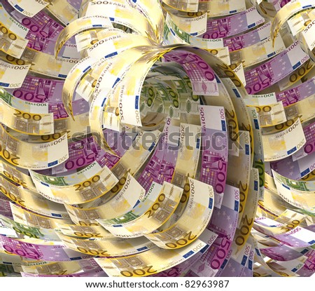 Euro abstract background