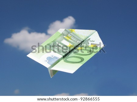 EURO airplane in the sky