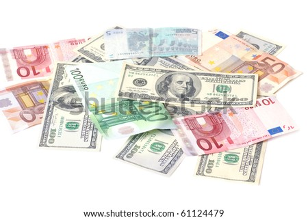 Euro and dollars can be used for background