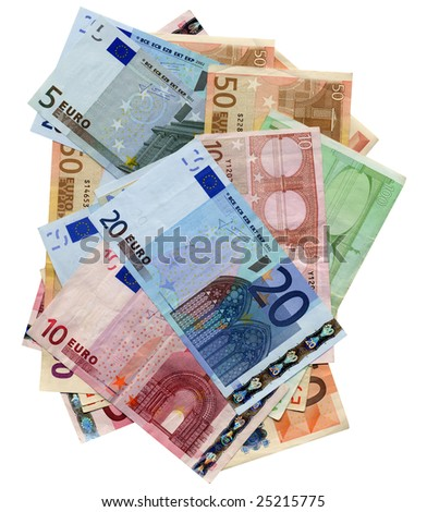 Euro bank notes money (European Union currency) #25215775